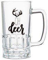 "Threshold Oh Deer"" Beer Stein Glass 16.5oz"