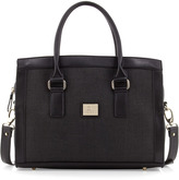 Gianfranco Ferre GF Large Woven-Center Satchel Bag, Black