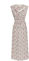 Nina Ricci Flower Print Silk Dress