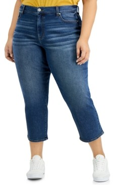 Celebrity Pink Trendy Plus Size Relaxed Straight-Leg Jeans