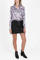 Paul & Joe Star Print Silk Shirt