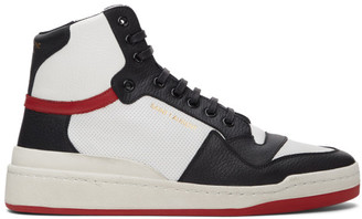 Saint Laurent White and Red SL 24 Sneakers
