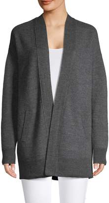 Lord & Taylor Long-Sleeve Open Front Cardigan