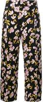 Marni floral print trousers - women - Silk/Cotton - 38