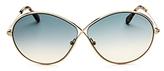 Tom Ford Rania Oversized Round Sunglasses, 65mm