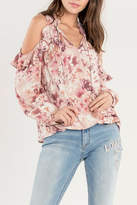 Miss Me Ruffle Cold-Shoulder Top