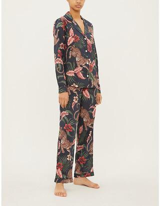 Desmond & Dempsey Soleia cotton pyjama set