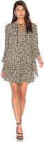 Derek Lam 10 Crosby Bell Sleeve Lace Up Dress
