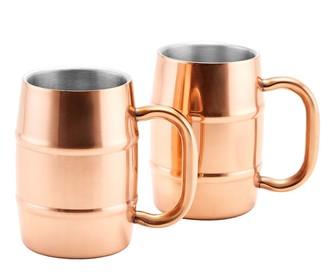Old Dutch KeepKool DuraCopper Stainless Steel Mug Set