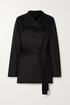Joseph Lima Belted Wool And Cashmere-blend Coat - Black