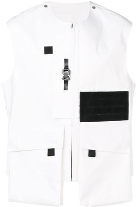 MACKINTOSH 1017 ALYX 9SM White Bonded Cotton Vest