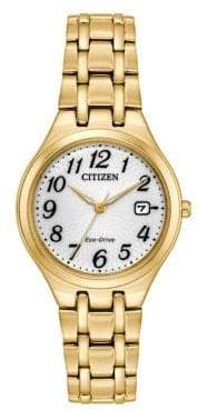 Citizen Eco-Drive Goldtone Stainless Steel Link Bracelet Watch