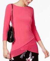 Alfani Chiffon Crossover-Hem Top, Created for Macy's