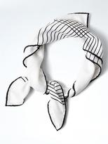 Banana Republic Plaid Small Square Silk Scarf