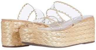 Schutz Royce (Transparent/Light Wood) Women's Shoes