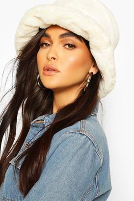 boohoo Faux Fur Bucket Hat