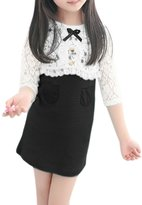 uxcell® Girls Floral Lace Shrug w Sleeveless Dress Sets Allegra Kids