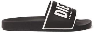 Diesel Black Logo Sandal