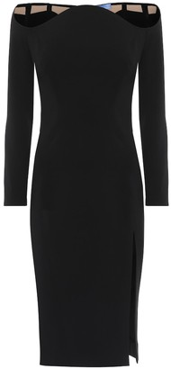 Thierry Mugler Off-the-shoulder crepe midi dress