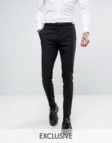 ONLY & SONS Super Skinny Suit Pants In Black