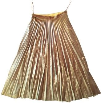 Topshop Tophop Gold Velvet Skirt for Women