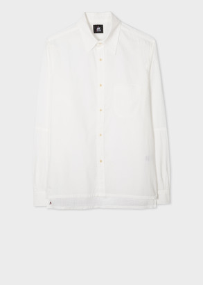 Paul Smith Men's White Cotton 'Red Ear' Shirt