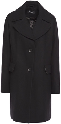 DKNY Brushed Wool-blend Coat