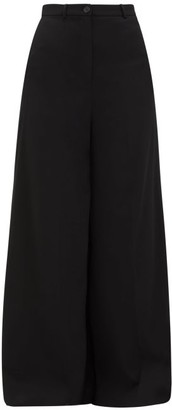 Vetements Wide-leg Tailored Trousers - Womens - Black