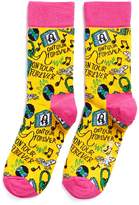 Happy Socks x Steve Aoki slogan socks