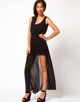 Asos Maxi Dress With Thigh Split