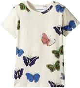 Mini Rodini Butterflies Short Sleeve Tee Girl's T Shirt