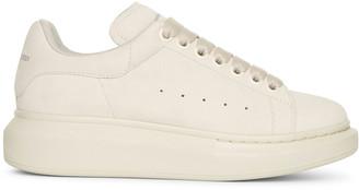 Alexander McQueen Cream suede classic sneakers