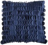 S.O.H.O New York 20-Inch Square Feather Fill Pleated Throw Pillow in Indigo