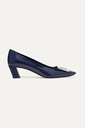 Roger Vivier Belle Vivier Patent-leather Pumps - Navy