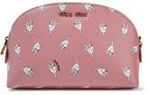 Miu Miu Printed Textured-leather Cosmetics Case - Baby pink