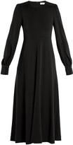 Chloé Long-sleeved wool-jersey midi dress