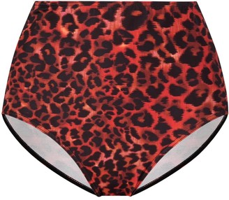 Marlies Dekkers Leopard-Print High-Waisted Briefs