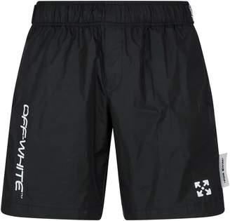 Off-White Off White Bermuda Logo Swim Shorts