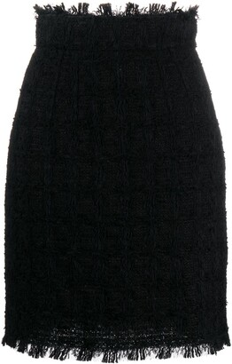 Dolce & Gabbana Tweed Pencil Skirt