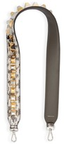 Fendi Strap You Metallic Studded Leather Guitar Bag Strap - Beige