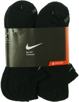 Nike Unisex Dri-FIT No Show 6-Pair Pack /(White) LG (Men's Shoe 8-12, Women's Shoe 10-13).