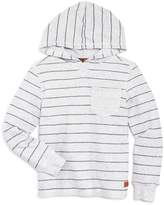 7 For All Mankind Boys' Striped Reverse French Terry Hoodie