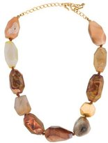 Kenneth Jay Lane Large Agate Bead Necklace