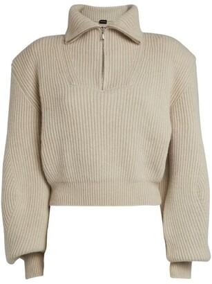 Magda Butrym Cashmere Half-Zip Sweater