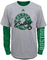 adidas Boys 8-20 Boston Celtics Cage Option Combo Tee Set