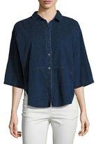 Eileen Fisher Denim Half-Sleeve Shirt
