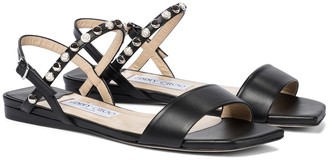 Jimmy Choo Aadra embellished leather sandals