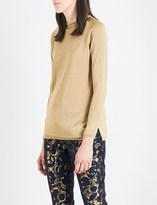 S Max Mara Faina metallic-knit jumper