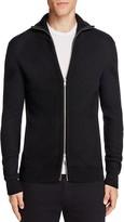 Theory Ronzons Merino Wool Zip Cardigan Sweater