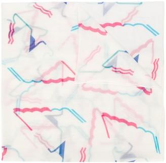 Emporio Armani Abstract-Print Scarf